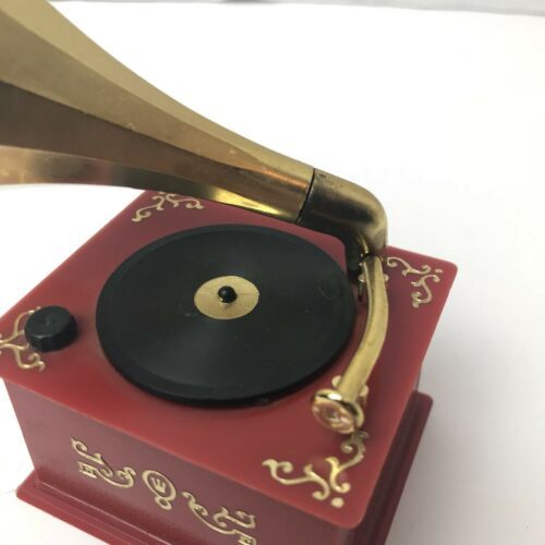 Vintage Phonograph Gramophone Music Box Made In West Germany Japan Motor Rare