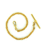 Vintage Mid Century Gold Filled Braided Wire Rope Chain Watch Fob Chain - $101.69
