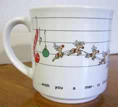 Sandra Boynton Holiday Mug Cup 12 oz We Wish You a Merry Christmas  - $11.90