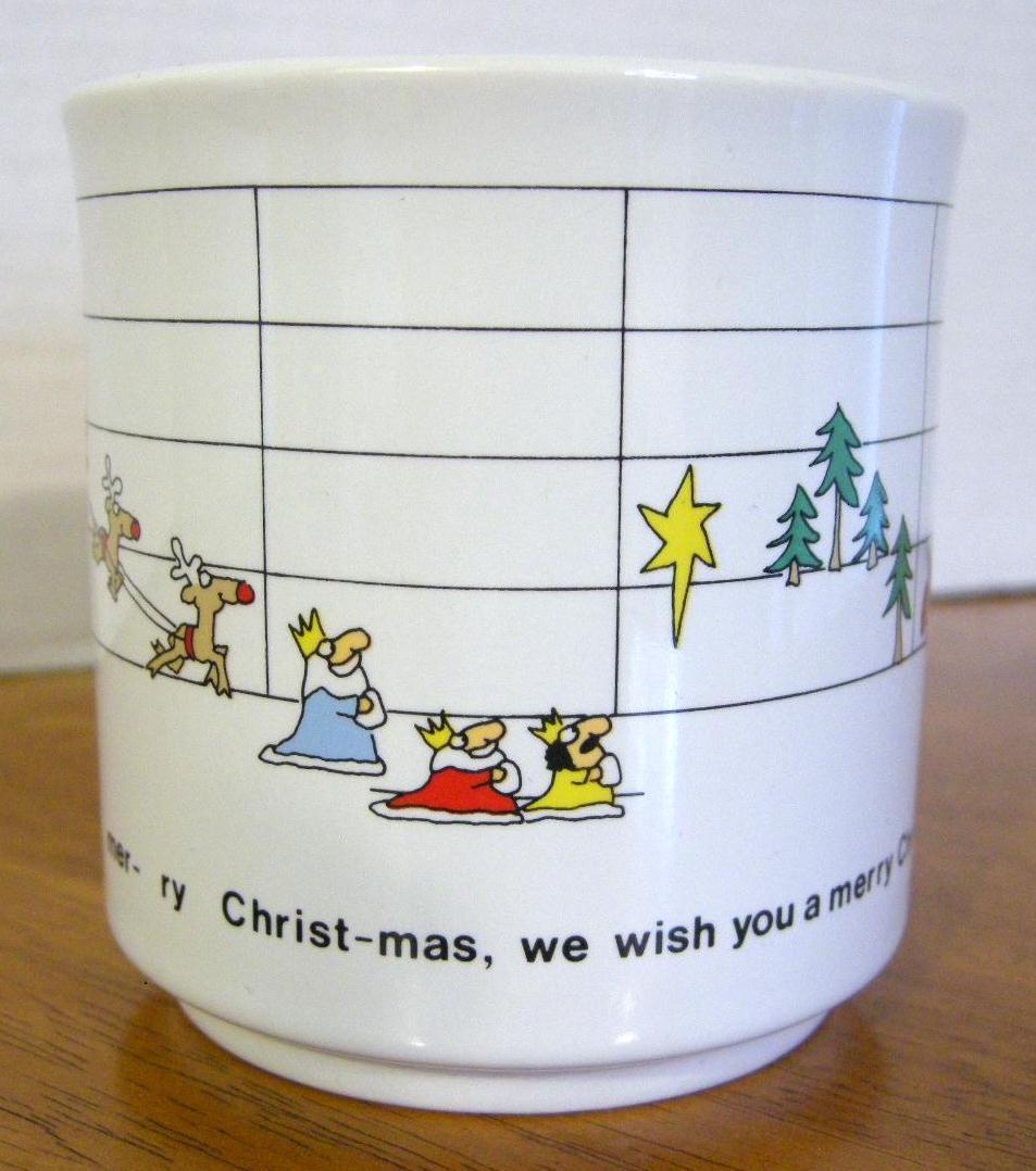 Sandra Boynton Holiday Mug Cup 12 oz We Wish You a Merry Christmas