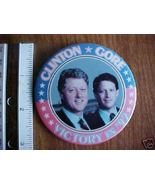 "1992 Clinton/Gore Campaign Political Button 3"" - $8.00"