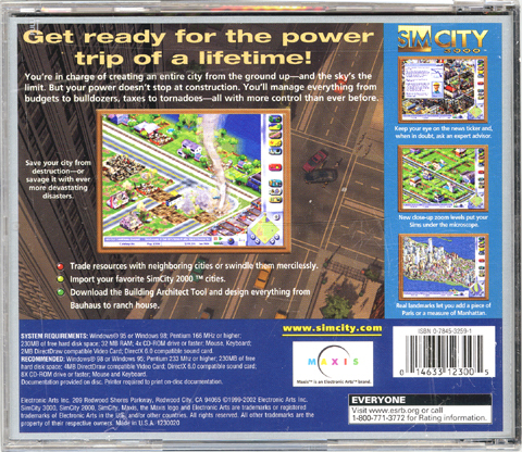 SimCity 3000 [Jewel Case] [PC Game]