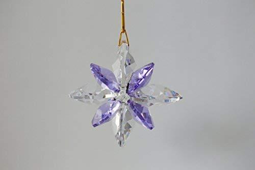 Crystal Nautical Star Suncatcher - Clear and Violet