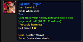 Big Red Raygun * World of Warcraft WoW Toy * All US/NA Servers - $5.69