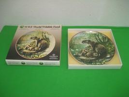 Vintage WWF World Wildlife Fund 1984 Otter Collector Plate No 3 Heinrich... - $18.65