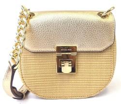 NEW MICHAEL KORS CECELIA SMALL CROSSBODY NATURAL PALE GOLD LEATHER BAG - $2.010,17 MXN