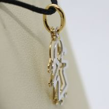 18K YELLOW WHITE GOLD PENDANT WITH GIRL BABY PERFORATED MADE IN ITALY, TWO FACES image 4