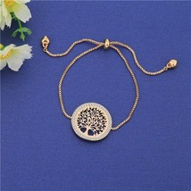 Gold Tree of Life Charm Bracelet For Women Wrist Bracelet Trendy Adjusta... - $9.41