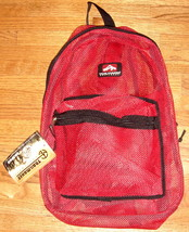 Red Mesh Backpack by Trailmaker Equipment ~ NEW ~ - $22.00