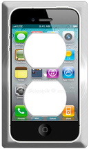 NEW IPHONE 4G SCREEN ELECTRIC 2 OUTLET COVER WALL PLATE - $9.99
