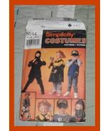Simplicity 8644 Fireman, Ninja, Policeman, Cowboy Kids Pattern Size Small - Larg - $1.50