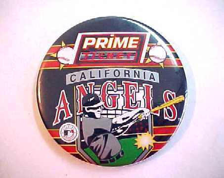 1990's Anaheim California Angels Prime Ticket Baseball Pin Back Pinback Button