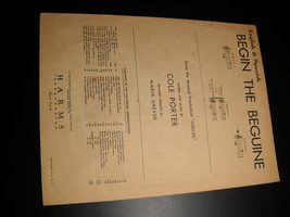 Sheet Music Begin The Beguine from Jubilee Spanish Cole Porter Jubilee 1935 - $8.99