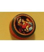 Christmas Tin Dollhouse metal 2-pc Raphael Madonna & Child - $5.80