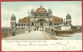 Salt Lake Utah Saltair Pavilion UDB Postcard BJs - $7.50