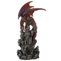 Guardian Dragon Protecting Castle with Precious Stone Collectible Figuri... - ₨2,077.02 INR