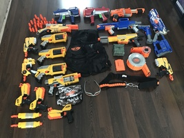 Nerf Guns and Accessories Lot Bundle  - 52 peices - $125.95