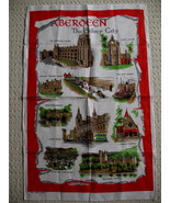 Aberdeen Scotland Pure Linen Tea Dish Towel Souvenir Collectible Collector - $14.95