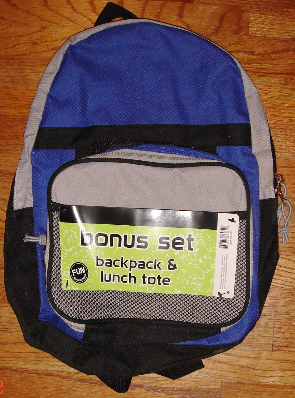 Primary image for Small Blue Backpack w/ Matching Lunch Tote ~ NEW ~