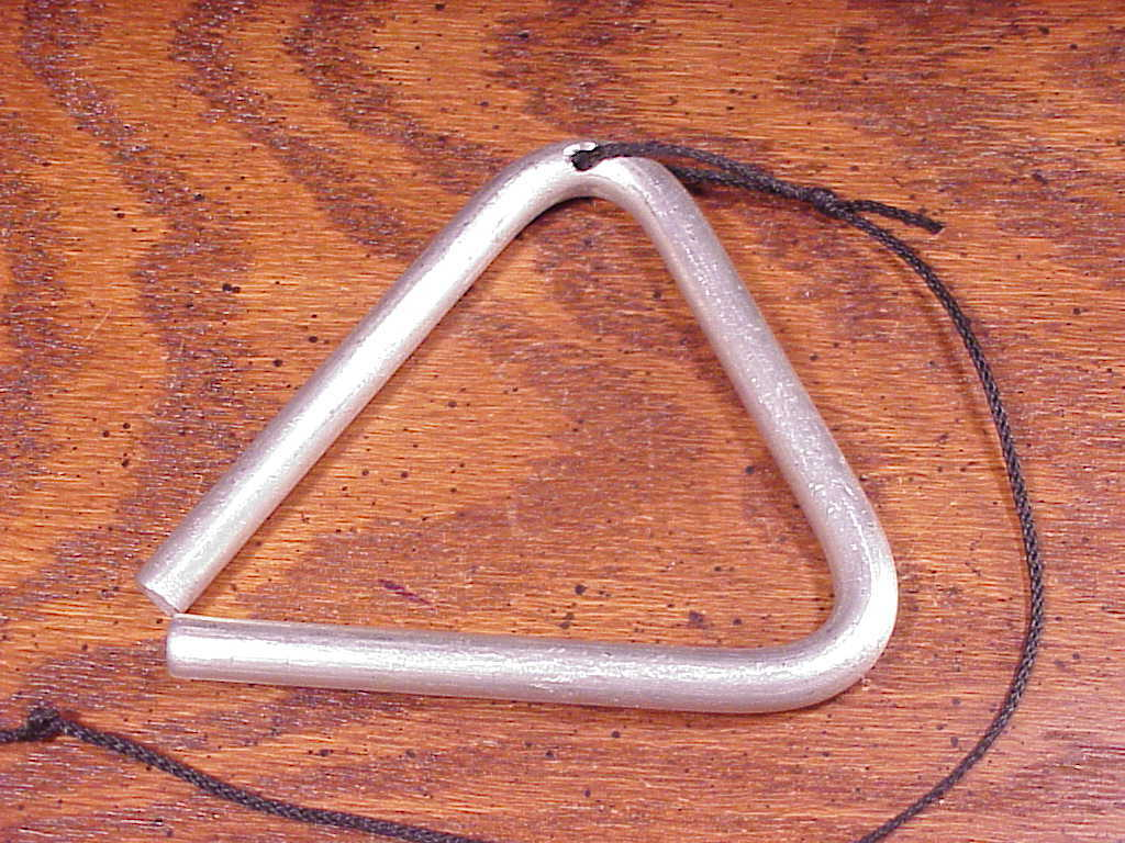 Used Children's Musical Triangle, with striker and hanger