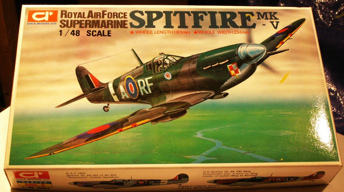 NEW SALE $ ~ Ideal Models 1/48 Supermarine Spitfire Mk. 5 - Open Box, Sealed Bag