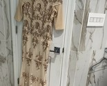 Godiva London Long Champagne Gold Sequined Dress Gown Altered To A Size 4-6 - £69.85 GBP