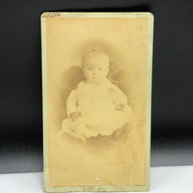 ANTIQUE EPHEMERA PHOTOGRAPH business card baby Charles Gallery Knightsto... - $19.75