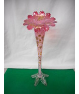 Antique Moser Glass Jack in the Pulpit Vase with Hand Decorated Gold Gilt - $886.05