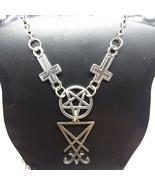 Inverted Cross/Pentacle + Sigil Necklace    - $18.00
