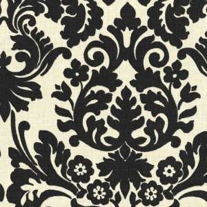 Wedding Black and Ivory Damask Table Square FREE SHIP