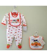 NWT Carter's Baby Essentials Lot Bibs Cute Romper Halloween Pumpkin 3 mo... - $6.92
