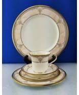 EUC 5pc Noritake Bone China PACIFIC MAJESTY Place Setting Seashell Gold Rim - $44.55