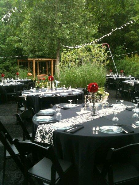 Wedding Black and Ivory Damask Table Runner  Linen FREE SHIP