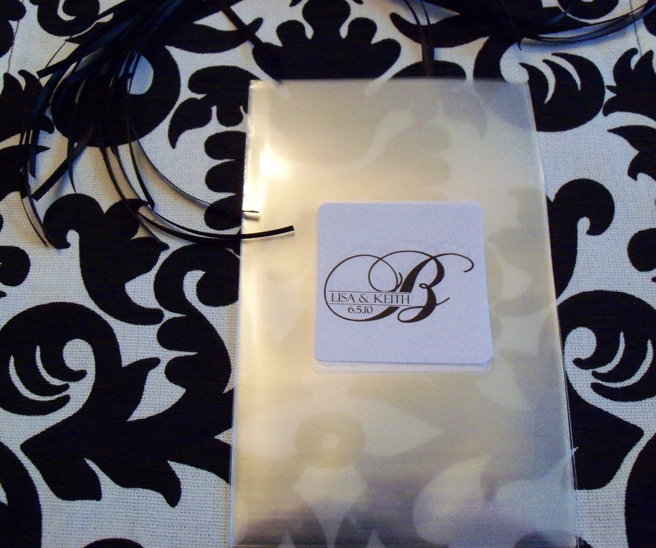 Wedding Personalized Custom Monogram Candy Buffet Favor Bags