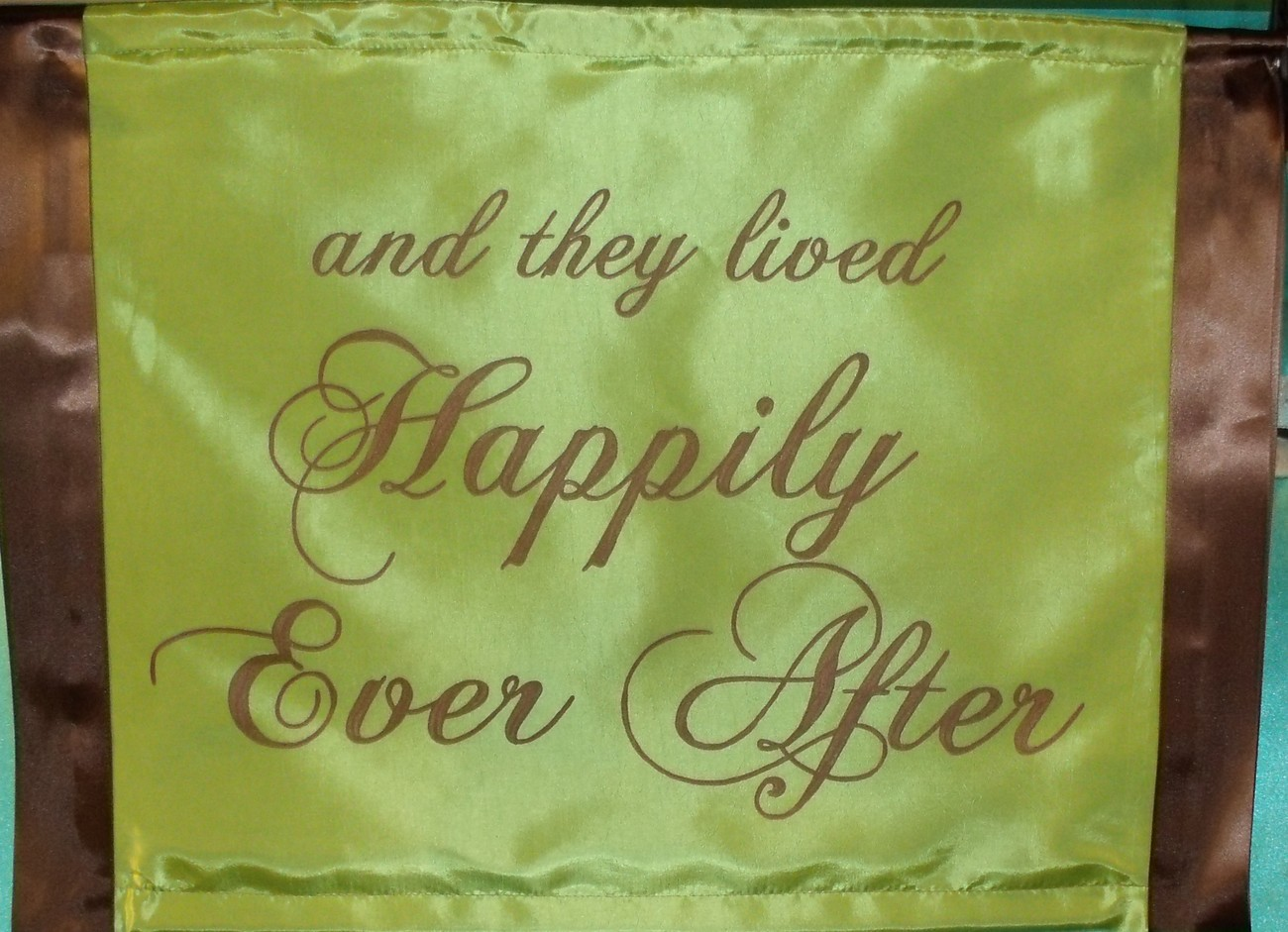 Wedding Custom Personalized Happily Ever After Hand Painted Banner