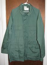 Mens National Parks Green Windbreaker Jacket Sz Large Tall Lightweight image 1