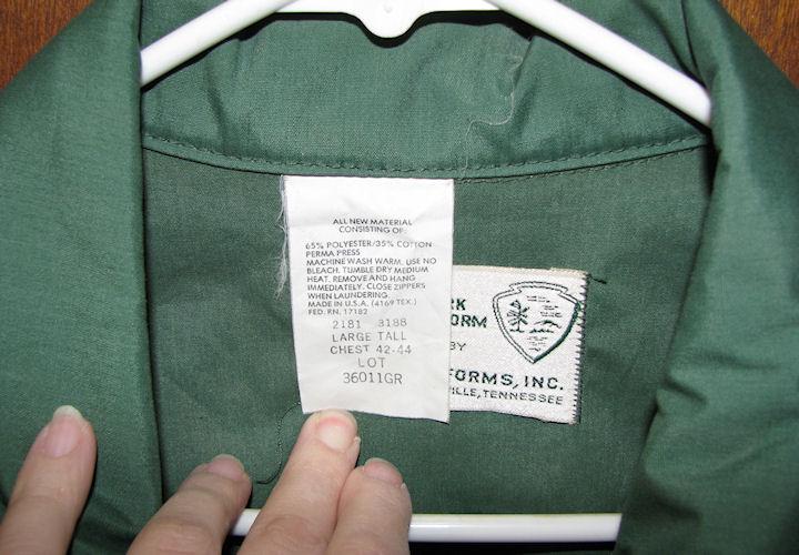 Mens National Parks Green Windbreaker Jacket Sz Large Tall Lightweight image 2