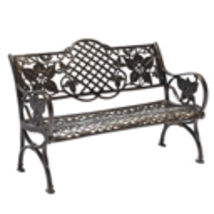 Outdoor Patio Cast Aluminum Bench - Garden Backyard Solid Construction w... - $549.00