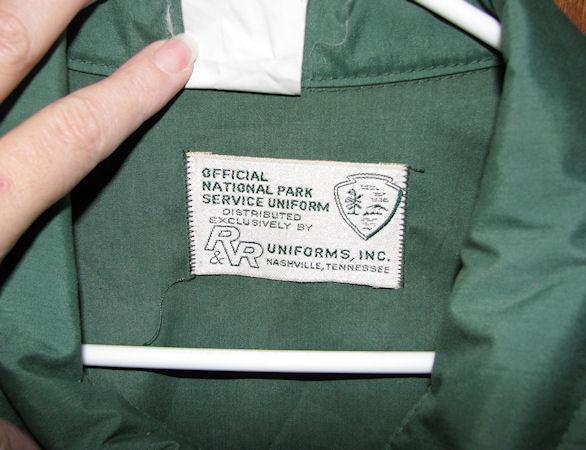 Mens National Parks Green Windbreaker Jacket Sz Large Tall Lightweight image 3