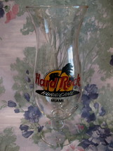 Hard Rock Cafe MIAMI Souvenir Hurricane Glass - $9.99