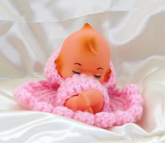 Sleeping Cupie Doll with Handcrafted Outfit