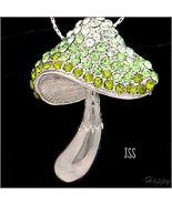 Swarovski Lime Green Mushroom Brooch Pendant - $17.00