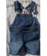 OSHKOSH BOYS/GIRLS CARPENTER OVERALL SHORTS SIZE 18 MOS - $5.99