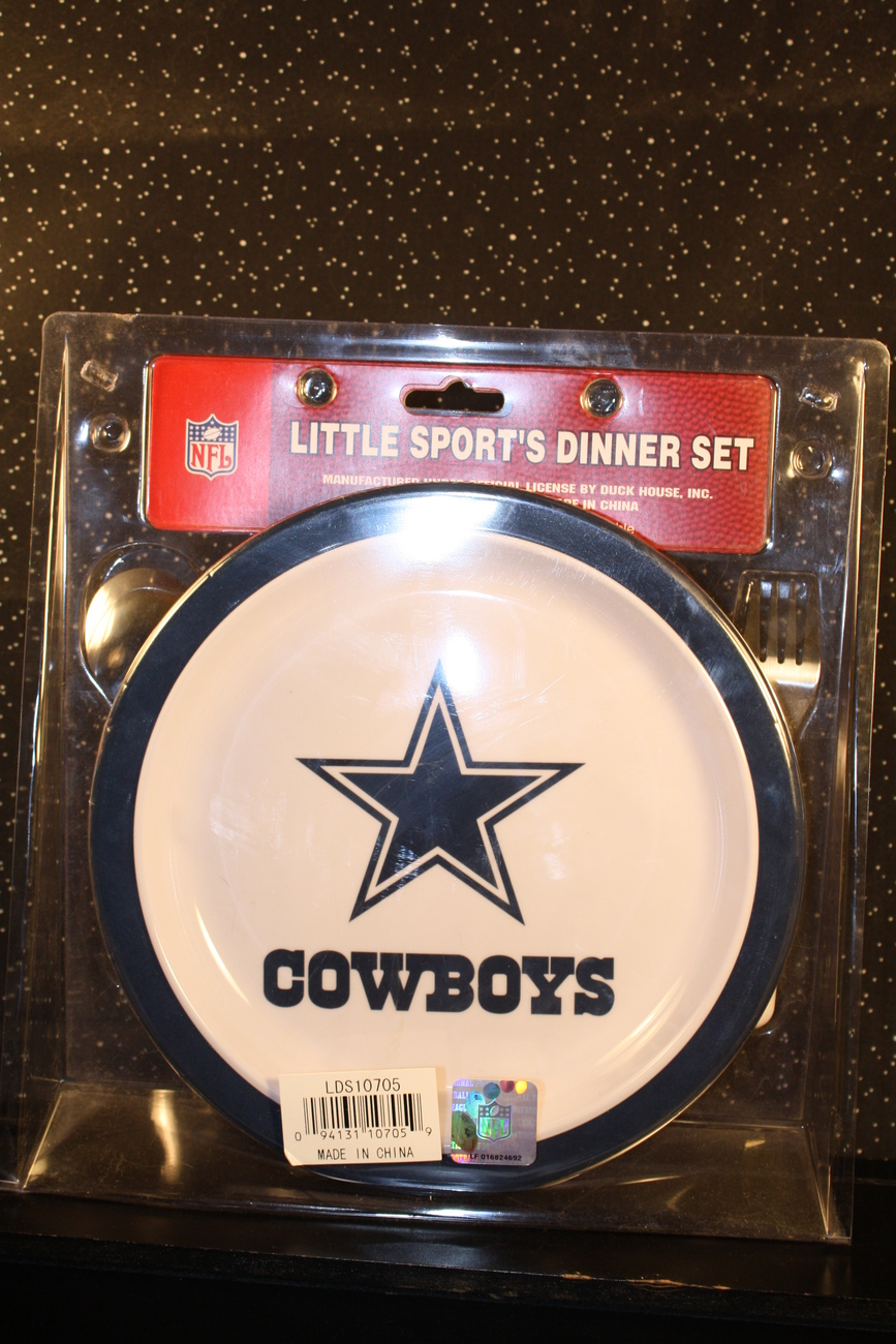 *DALLAS COWBOYS*LITTLE SPORT'S DINNER/DISH SET*PLATE*BOWL*CUP*SPOON*FORK*NEW*