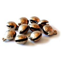 TIBETAN BRASS BELLS LOT of 10 16mm Bead Craft Temple Herding Small Metal... - $7.88