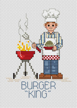 Burger King Post Stitches cross stitch chart with charm Sue Hillis Designs - $5.40