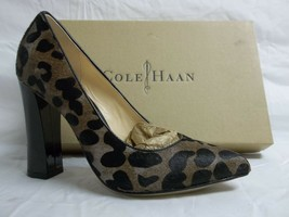 Cole Haan Size 6.5 M Chelsea Grey Leopard Haircalf Pumps New Womens Shoes - $100.91