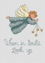 Angel Post Stitches cross stitch chart with charm Sue Hillis Designs - $5.40