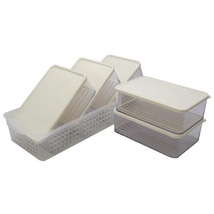 Silicook Refrigerator Food Storage Containers with Tray Kitchen Organizer Set image 2