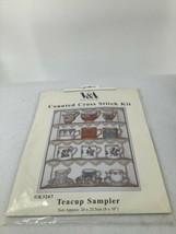 "V & A Museum Teacup Sampler Counted Cross Stitch Kit #K3267 8 X 10"" - $28.04"